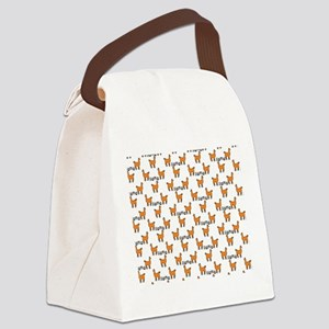 Llama Mania Canvas Lunch Bag