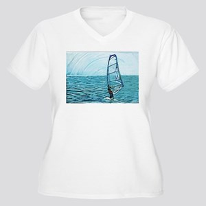 windsurf Women's Plus Size V-Neck T-Shirt