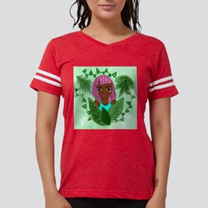 Pink Plant Girl Womens Football Shirt