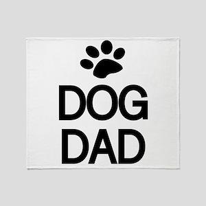DOG DAD Throw Blanket