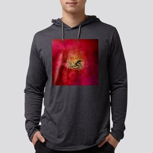 The dragon on vintage background Mens Hooded Shirt