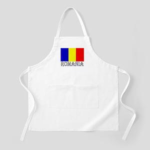 Romania Flag & Word BBQ Apron