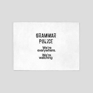 Grammar Police We're Everywhere We' 5'x7'Area Rug