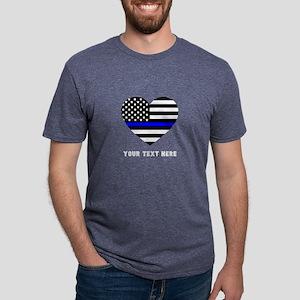 Thin Blue Line Love Mens Tri-blend T-Shirt