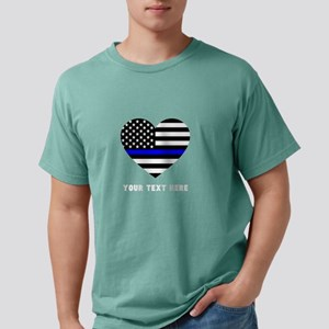 Thin Blue Line Love Mens Comfort Colors Shirt