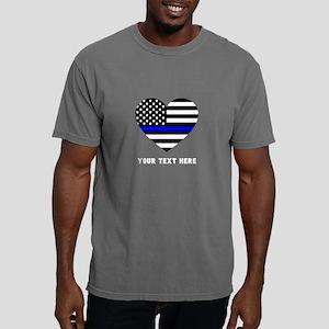 Thin Blue Line Love Mens Comfort Colors Shirt