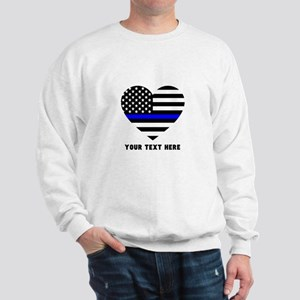 Thin Blue Line Love Sweatshirt