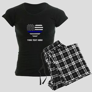 Thin Blue Line Love Women's Dark Pajamas