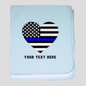 Thin Blue Line Love baby blanket