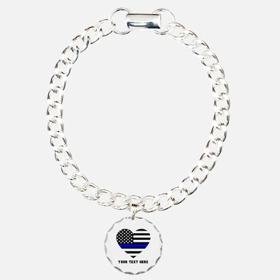 Thin Blue Line Love Bracelet