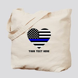 Thin Blue Line Love Tote Bag