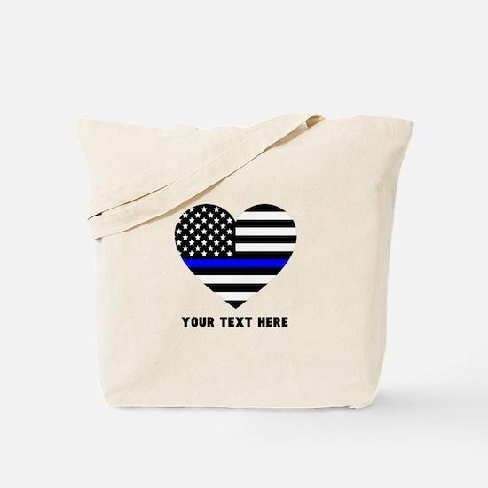 Thin Blue Line Love Tote Bag