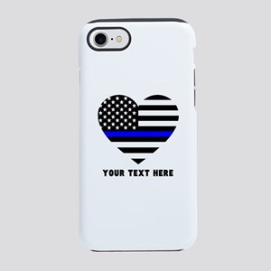 Thin Blue Line Love iPhone 7 Tough Case