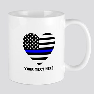 Thin Blue Line Love 11 oz Ceramic Mug