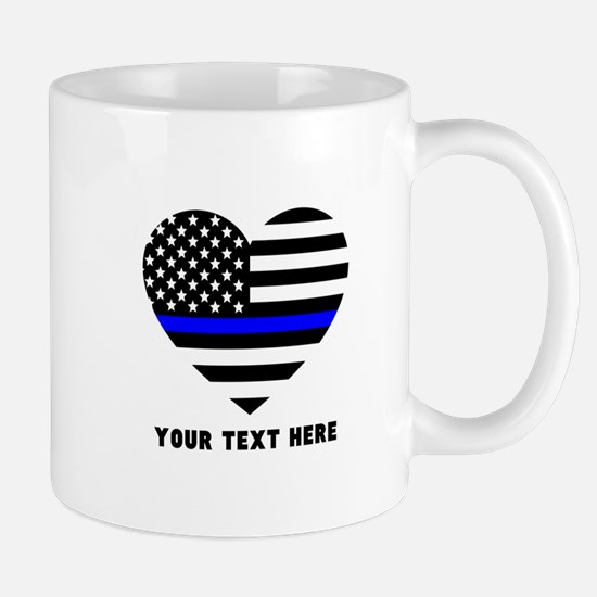 Thin Blue Line Love Mug