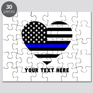 Thin Blue Line Love Puzzle