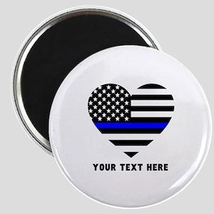 Thin Blue Line Love Magnet