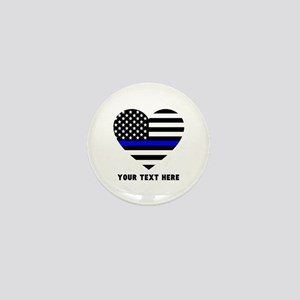 Thin Blue Line Love Mini Button