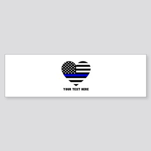 Thin Blue Line Love Sticker (Bumper)