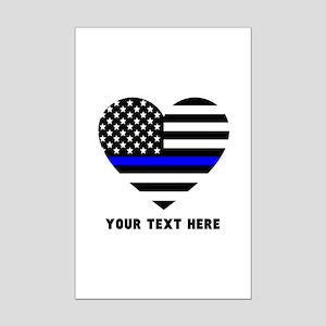 Thin Blue Line Love Mini Poster Print
