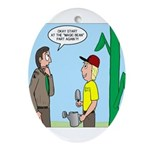 Scout Gardening Ornament (Oval)