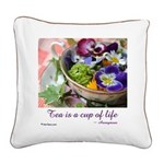 Cup of Life Square Canvas Pillow