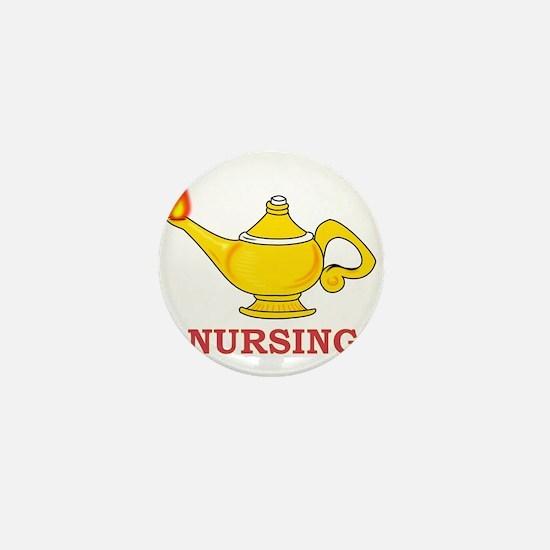 Nursing Lamp with Nursing Text Mini Button