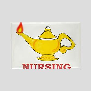 Nursing Lamp with Nursing Text Rectangle Magnet