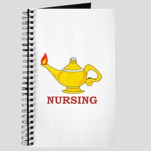 Nursing Lamp with Nursing Text Journal