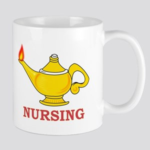 Nursing Lamp with Nursing Text Mug