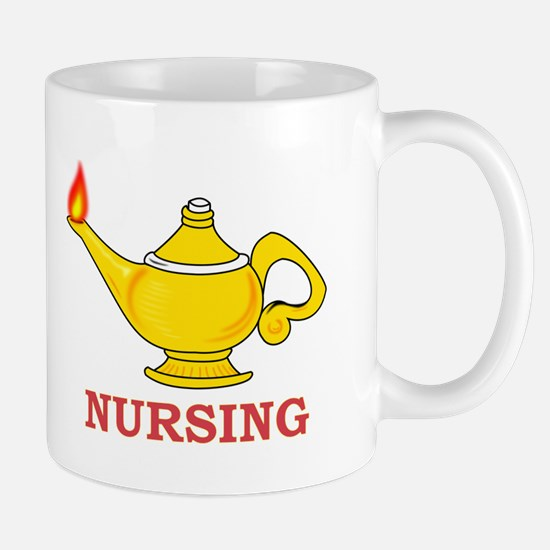 Nursing Lamp with Nursing Text Mug