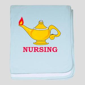 Nursing Lamp with Nursing Text baby blanket