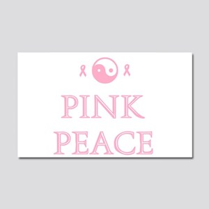 Pink Peace Car Magnet 20 x 12