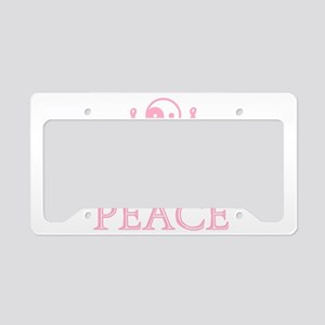 Pink Peace License Plate Holder