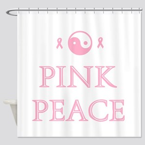 Pink Peace Shower Curtain