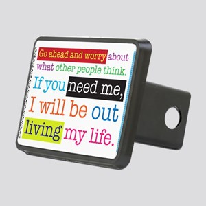 Live My Life Rectangular Hitch Cover