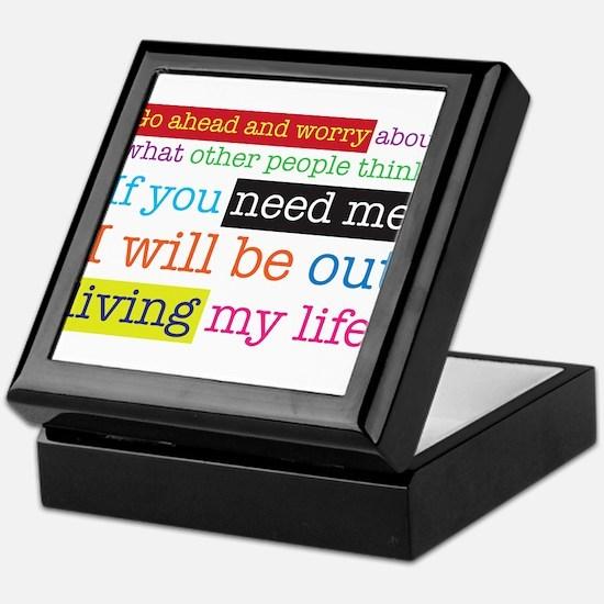 Live My Life Keepsake Box