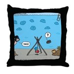 Jellyfish SCUBA Throw Pillow