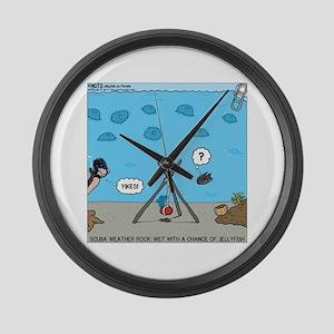 Jellyfish SCUBA Large Wall Clock
