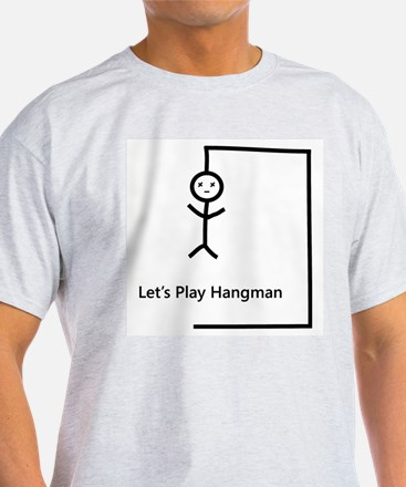Let's Play Hangman Ash Grey T-Shirt