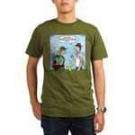 Backpack Overpack Organic Men's T-Shirt (dark)