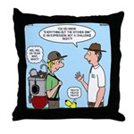 Backpack Overpack Throw Pillow