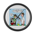 Backpack Overpack Large Wall Clock