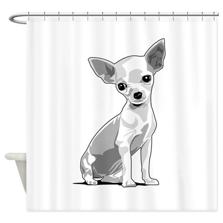 Chihuahua Shower Curtain By Styleuniversal