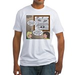 Canoe Portage in the Wind Fitted T-Shirt