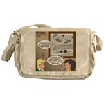 Canoe Portage in the Wind Messenger Bag