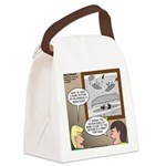 Canoe Portage in the Wind Canvas Lunch Bag