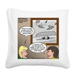 Canoe Portage in the Wind Square Canvas Pillow