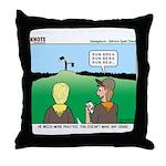 Semaphore Warning Throw Pillow