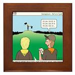 Semaphore Warning Framed Tile
